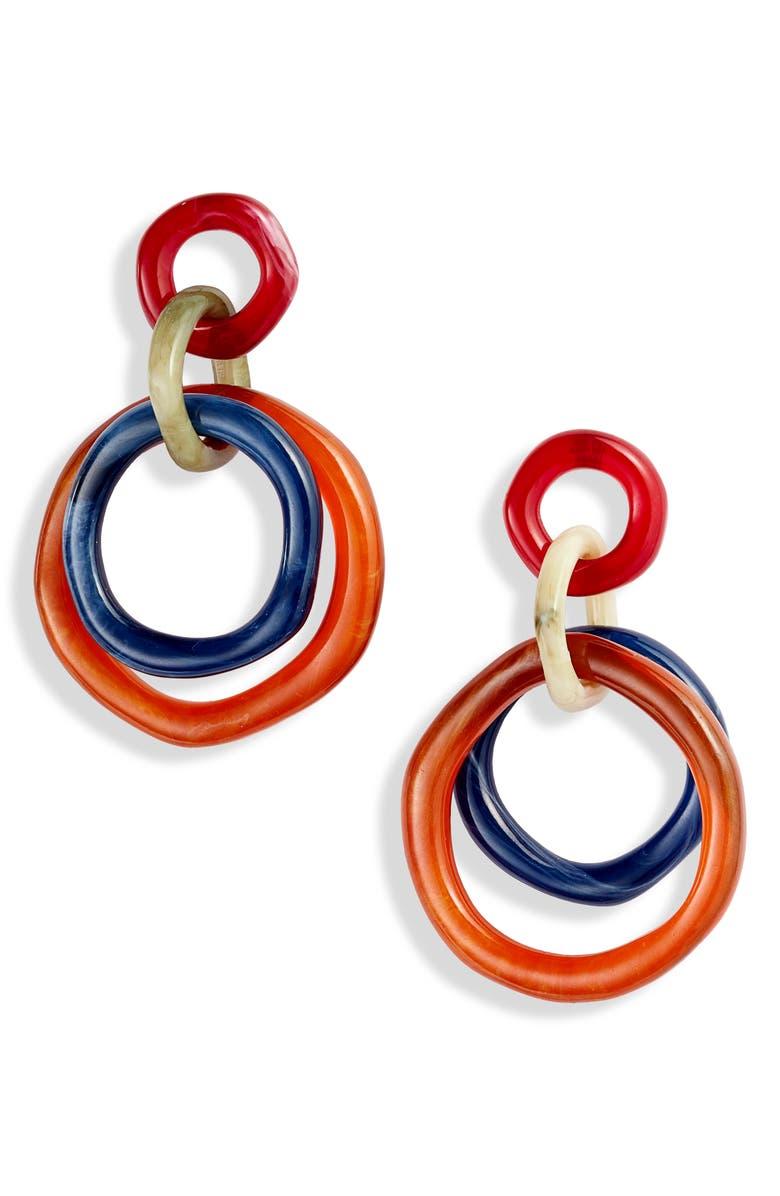 LELE SADOUGHI Twig Banded Hoop Earrings, Main, color, 400