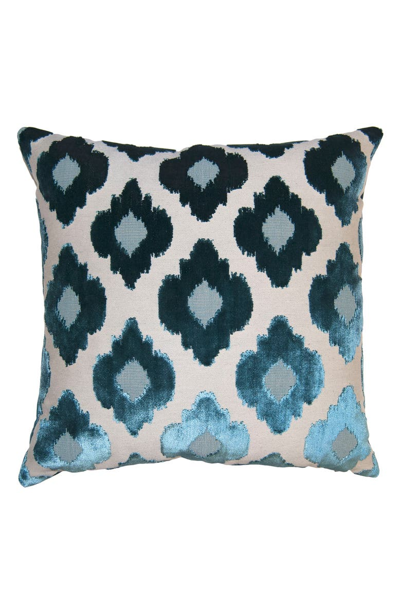 SQUARE FEATHERS Sky Flowers Accent Pillow, Main, color, 400