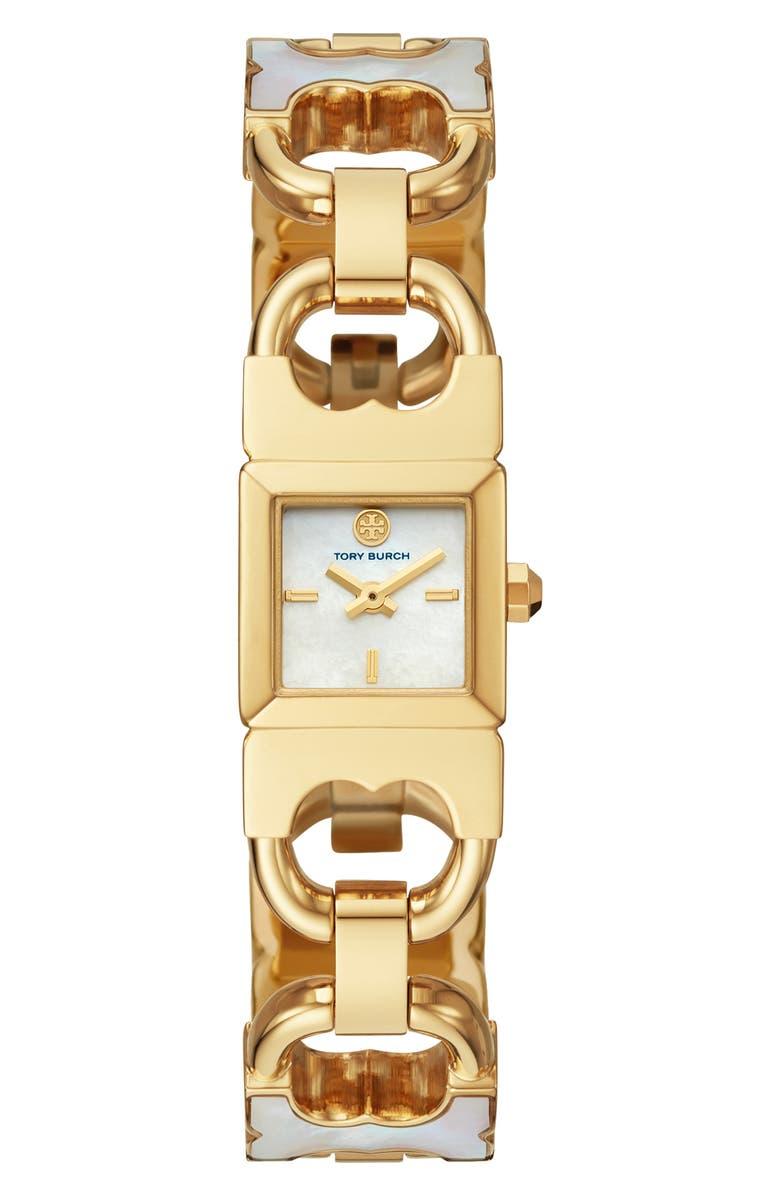 토리버치 Tory Burch The Double-T Link Bracelet Watch