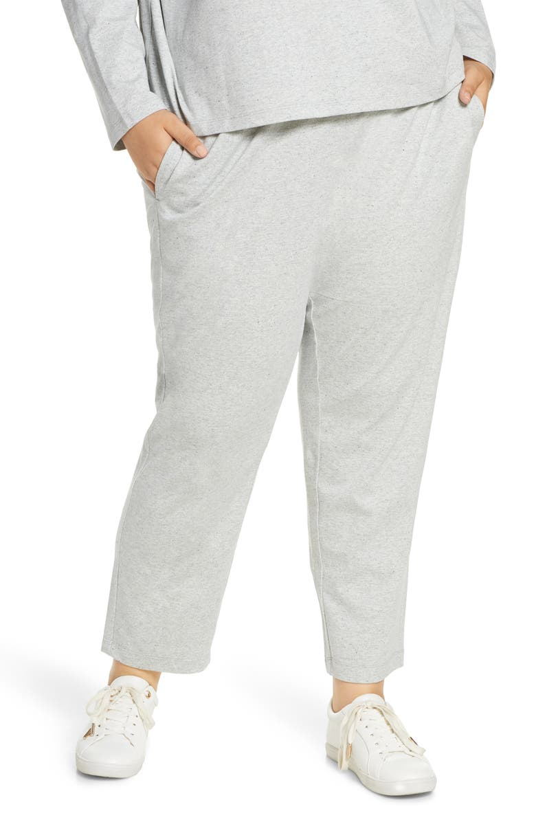 EILEEN FISHER Tapered Melangé Ankle Pants, Main, color, PEARL