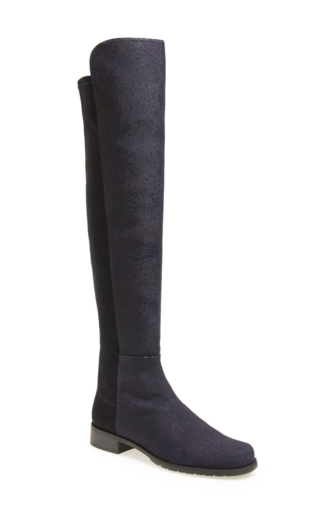 ,                             5050 Over the Knee Leather Boot,                             Main thumbnail 49, color,                             401