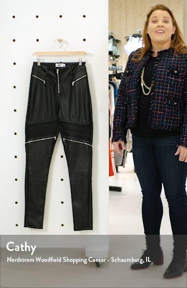 Nero Faux Leather Skinny Pants, sales video thumbnail