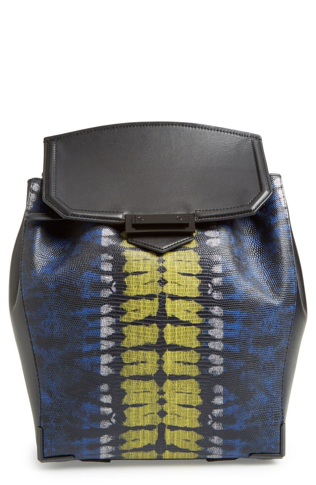 'Prisma' Lizard Embossed Backpack, Main, color, 700