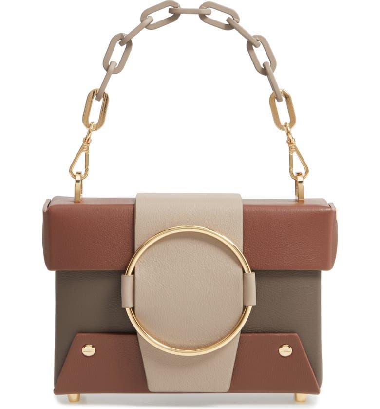 YUZEFI Asher Convertible Crossbody Bag, Main, color, NERO/ CREAM