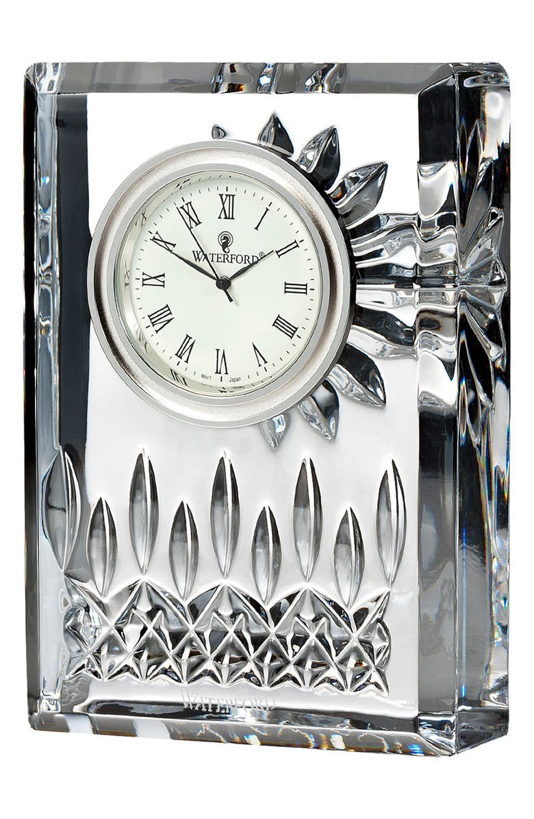 WATERFORD Lismore Lead Crystal Clock, Main, color, 100