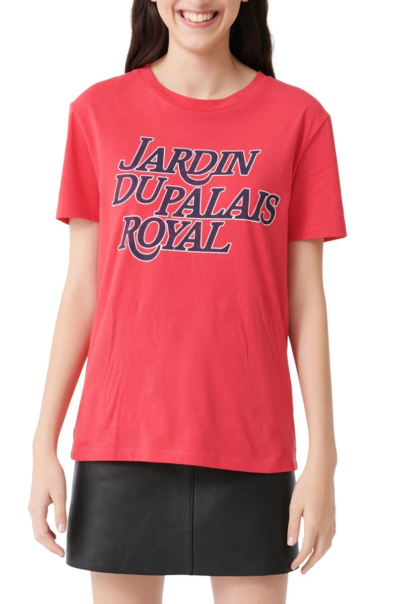 Maje Terence Jardin Du Palais Royal Graphic Cotton Tee Nordstrom