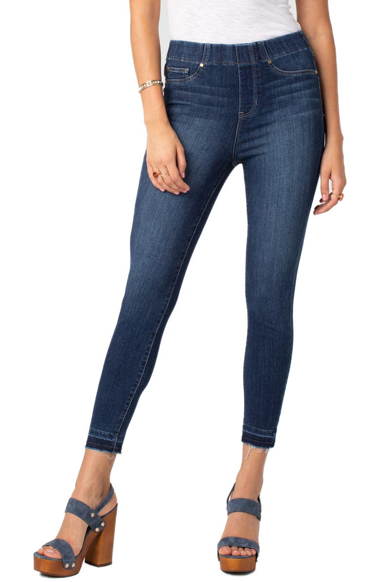 LIVERPOOL Chloe Release Hem Pull-On Skinny Jeans, Main, color, 420