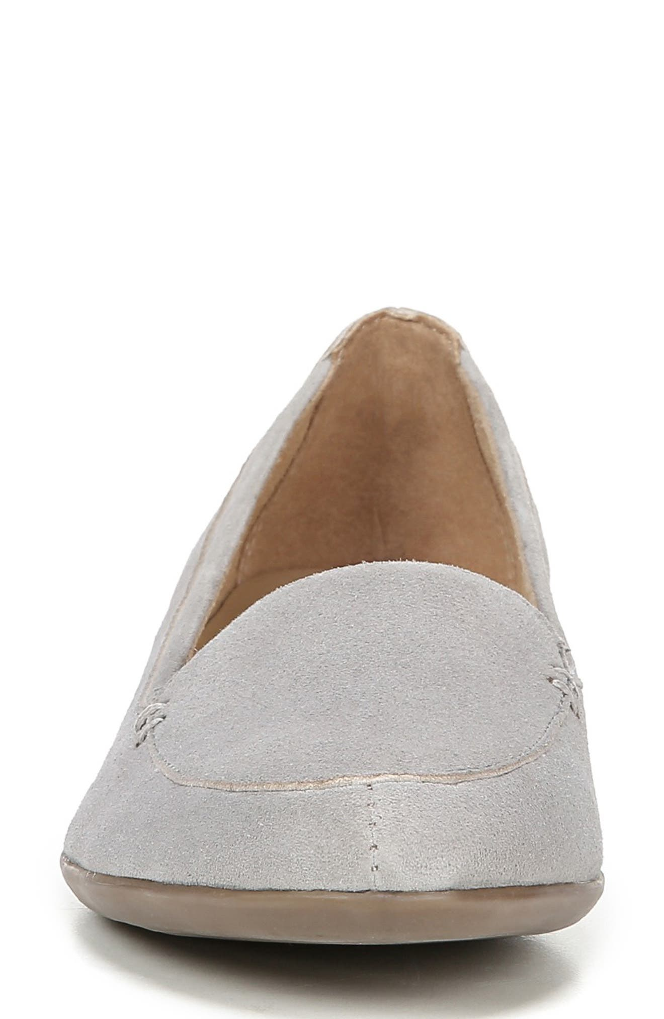 ,                             'Saban' Leather Loafer,                             Alternate thumbnail 4, color,                             ICE GREY SUEDE