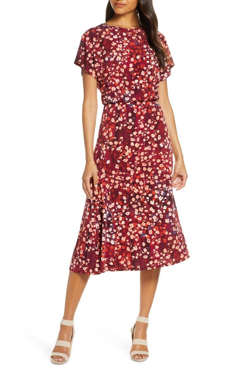 MAGGY LONDON Floral A-Line Dress, Main, color, 937