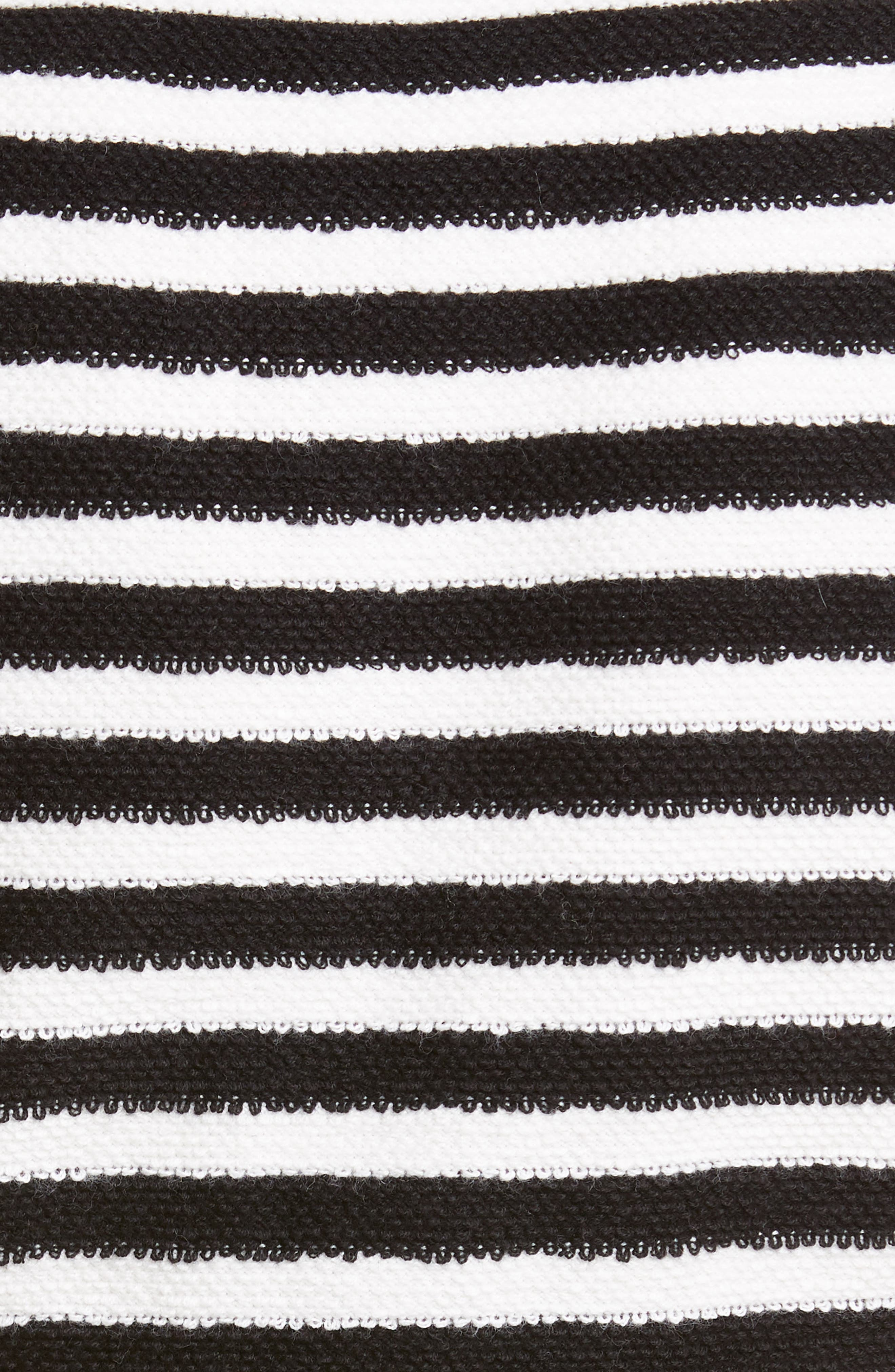 ,                             Short Sleeve Crop Cardigan,                             Alternate thumbnail 6, color,                             WHITE/ BLACK STRIPES