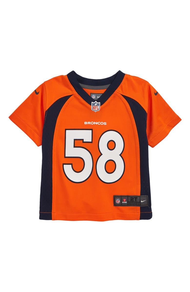 buy popular 0fe47 22093 Nike NFL Denver Broncos Von Miller Jersey (Toddler Boys ...