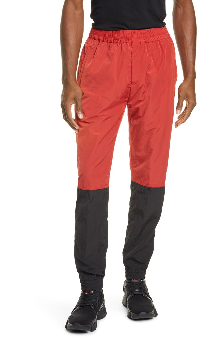 GIVENCHY Colorblock Nylon Track Pants, Main, color, RED