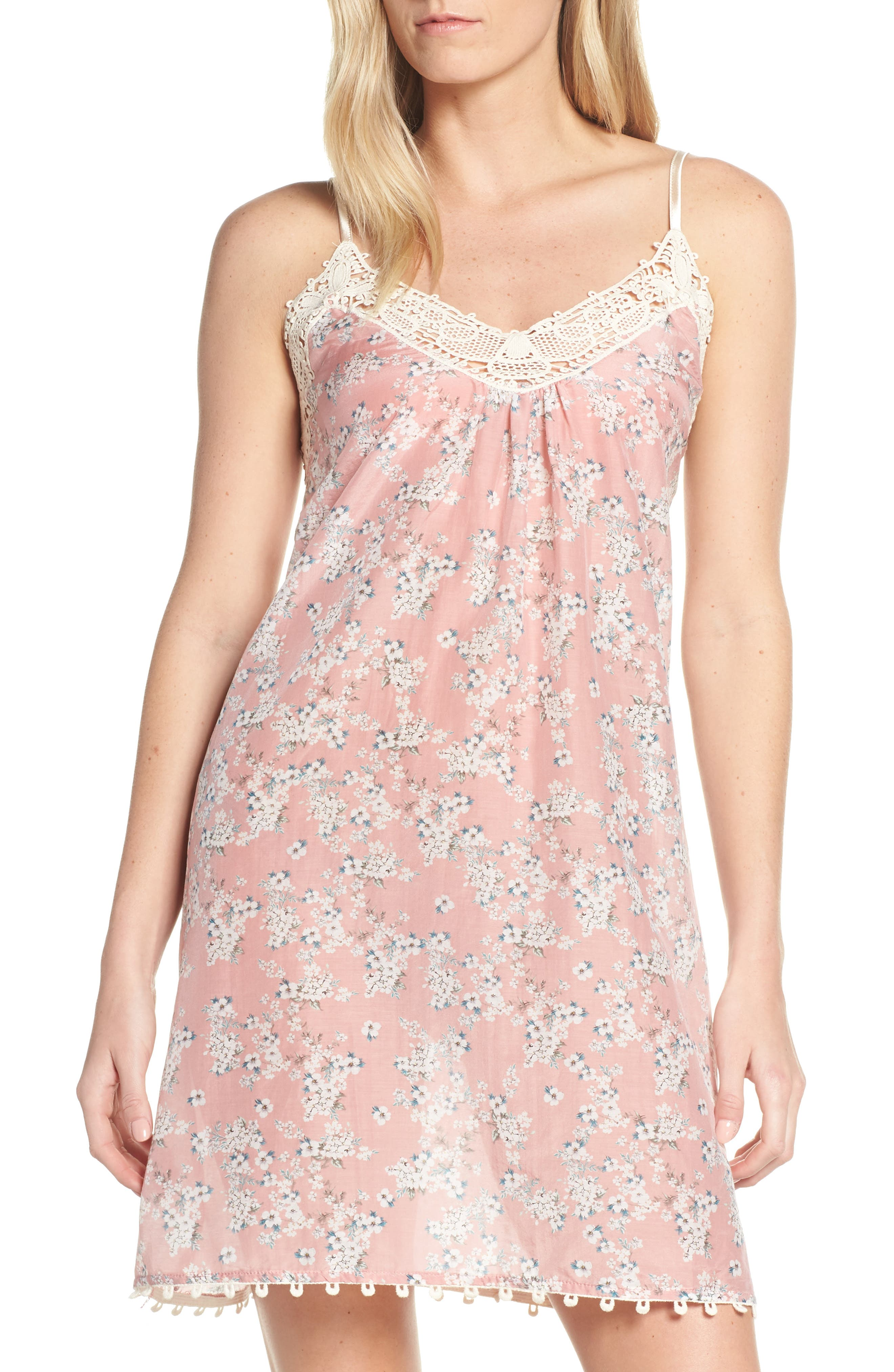 Papinelle Isabelle Cotton & Silk Nightgown, Pink