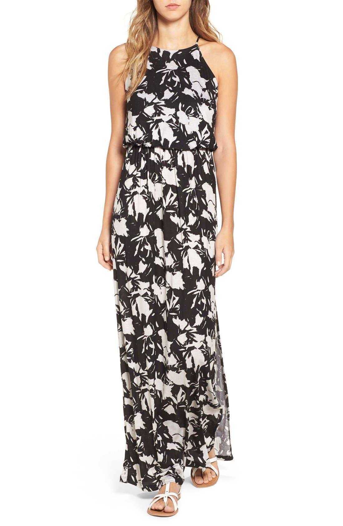,                             High Neck Maxi Dress,                             Main thumbnail 60, color,                             250