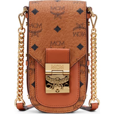 Mcm Mini Patricia Visetos Coated Canvas & Leather Crossbody Bag - Brown