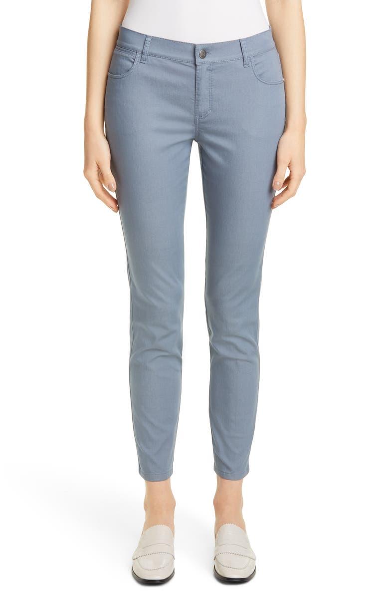 LAFAYETTE 148 NEW YORK Mercer Skinny Jeans, Main, color, BLUE JAY