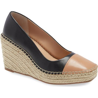 Charles David Glider Espadrille Wedge Pump, Black