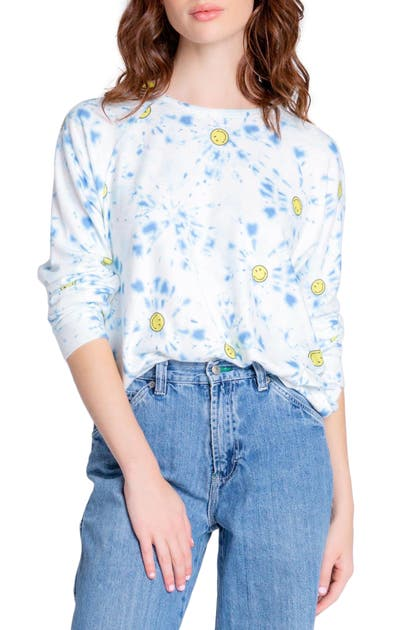 Pj Salvage SMILEY TIE DYE TOP