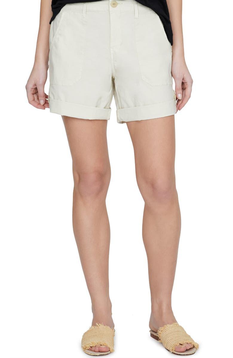 SANCTUARY Pathfinder Patch Pocket Stretch Cotton Shorts, Main, color, 250