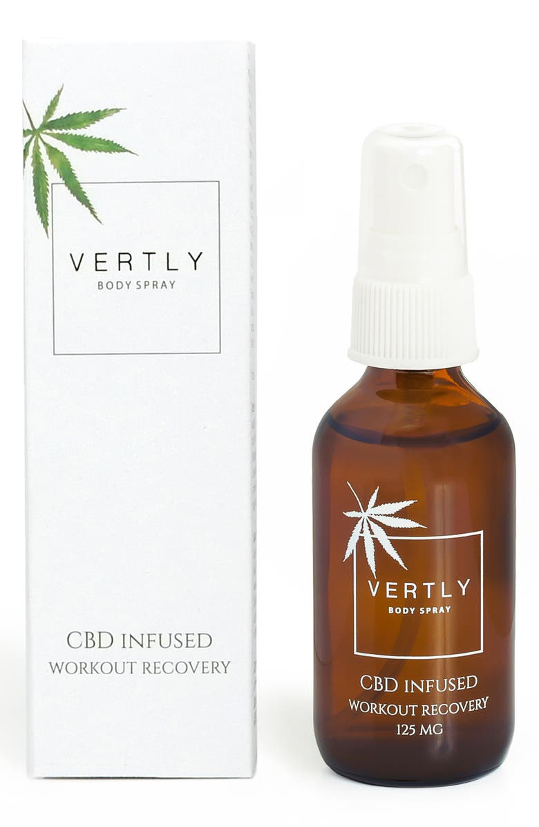VERTLY CBD Infused Workout Recovery Body Spray, Main, color, NO COLOR