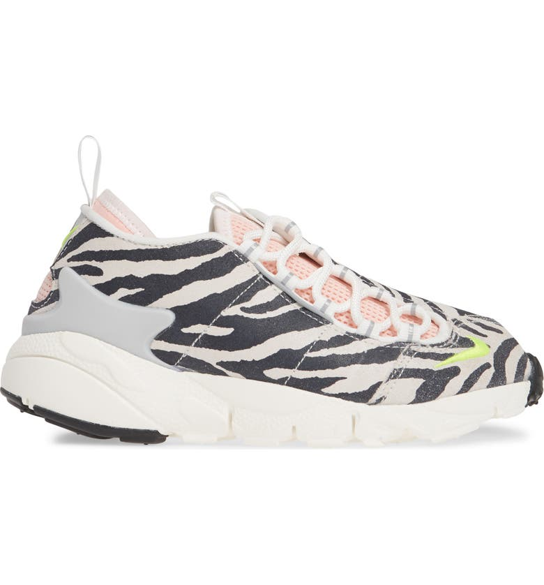 NIKE x Olivia Kim Air Footscape Sneaker, Main, color, SUMMIT WHITE/ VOLT BLEACHED