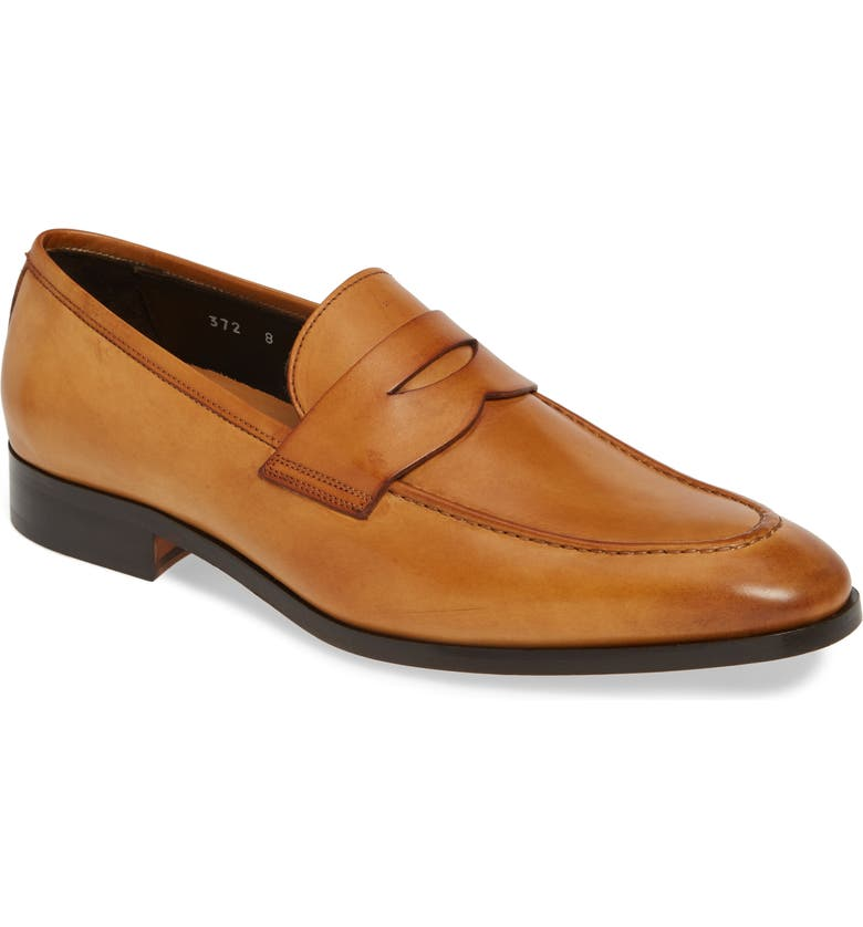 TO BOOT NEW YORK Buono Penny Loafer, Main, color, LIGHT TAN LEATHER