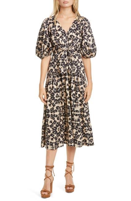 Image of Rebecca Taylor Short Sleeve Kaleidoscope Dress