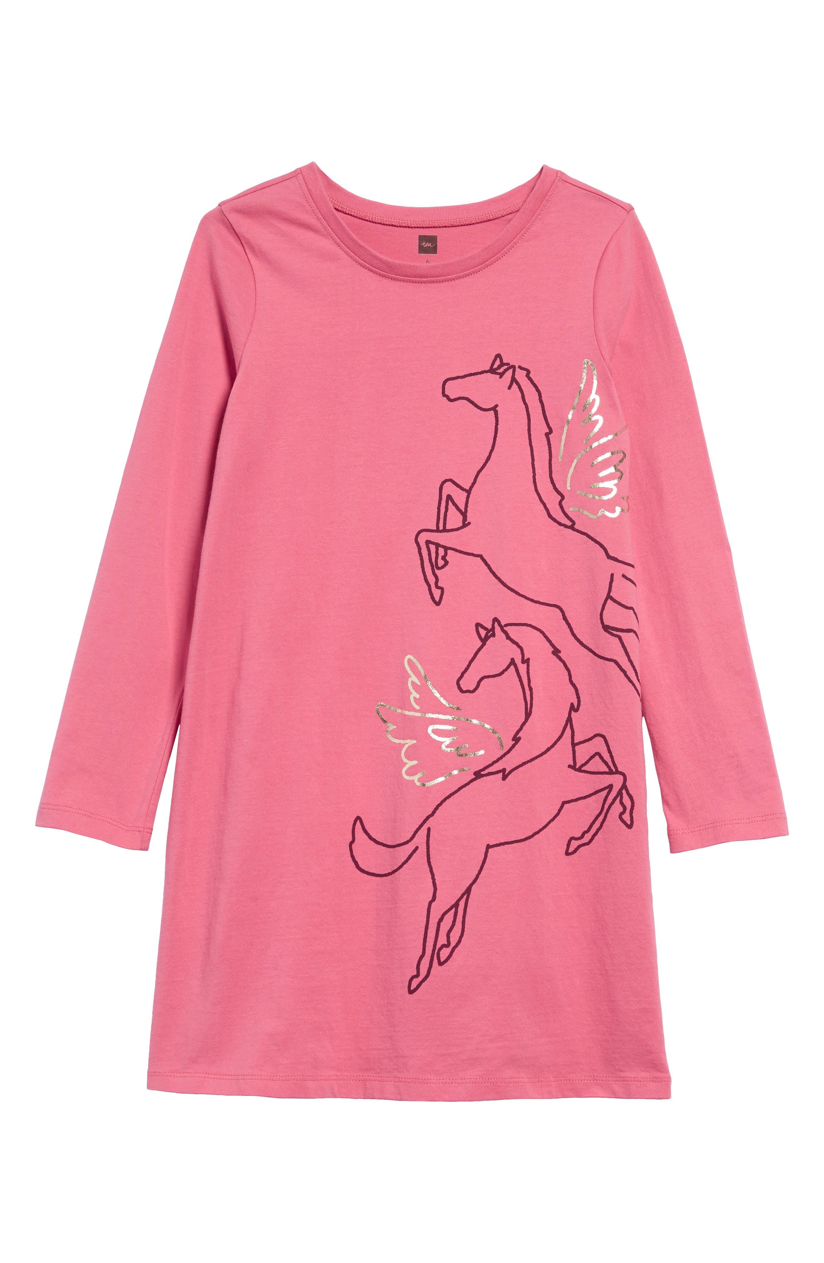 Image of Tea Collection Metallic Wind Horse Dress