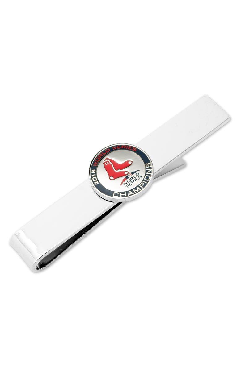 CUFFLINKS, INC. Boston Red Sox World Series Tie Bar, Main, color, SILVER