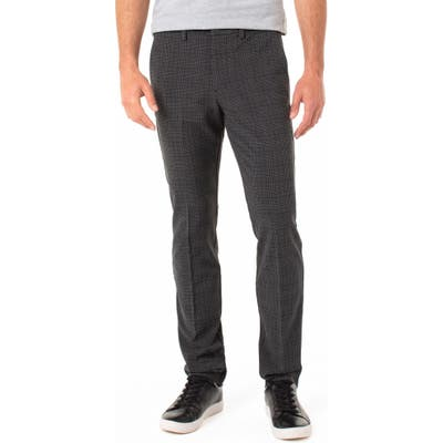 Liverpool Saville Slim Fit Plaid Knit Pants, Grey