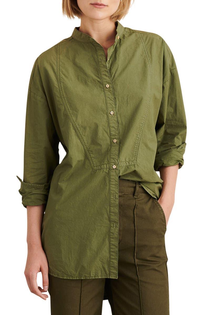 ALEX MILL Tunic Shirt, Main, color, MILITARY GREEN
