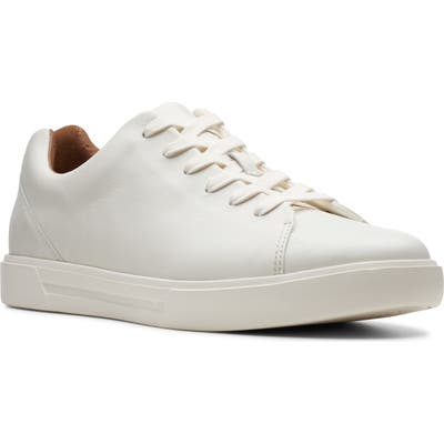 Clarks Un Costa Lace Up Sneaker, White