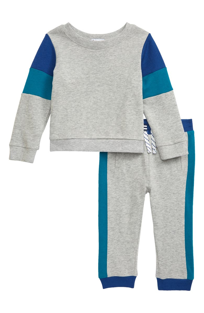 SPLENDID Colorblock Sweatshirt & Sweatpants Set, Main, color, 051