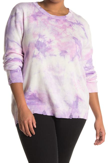 Image of Fate Tie-Dye Distressed Sweater