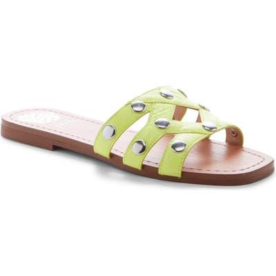 Vince Camuto Vazista Studded Slide Sandal, Yellow
