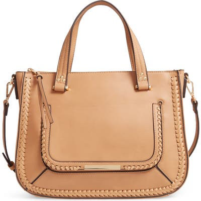 Sole Society Dayla Faux Leather Satchel - Brown