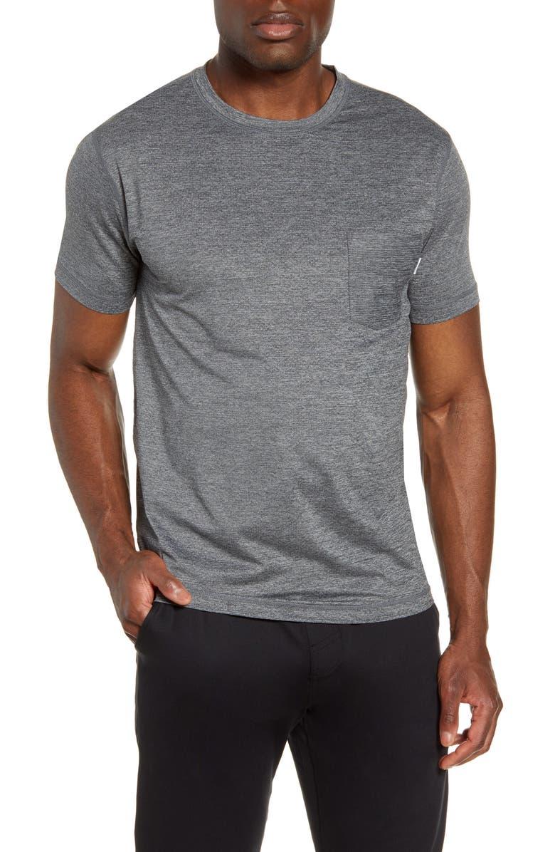 VUORI Tradewind Pocket Performance T-Shirt, Main, color, HEATHER GREY