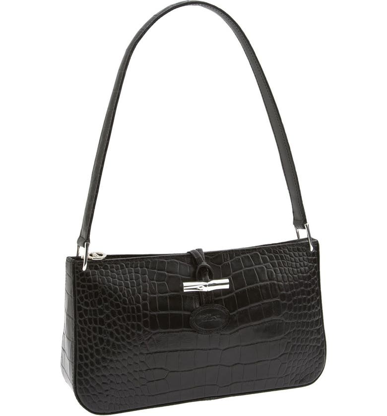 Longchamp 'Roseau Croco - Small' Shoulder Bag   Nordstrom