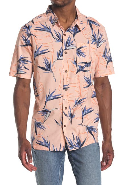 Image of Jack O'Neill Radcliffe Birds of Paradise Printed Regular Fit Shirt