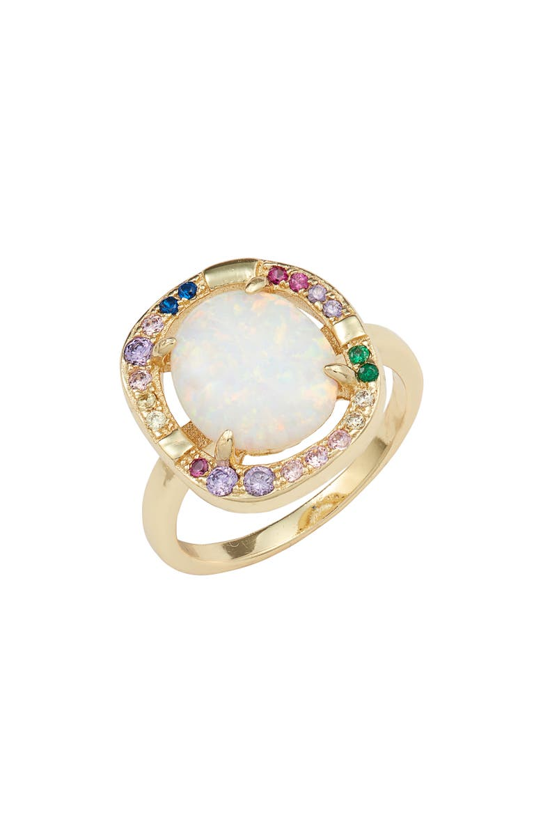 MELINDA MARIA Elizabeth Cocktail Ring, Main, color, 100