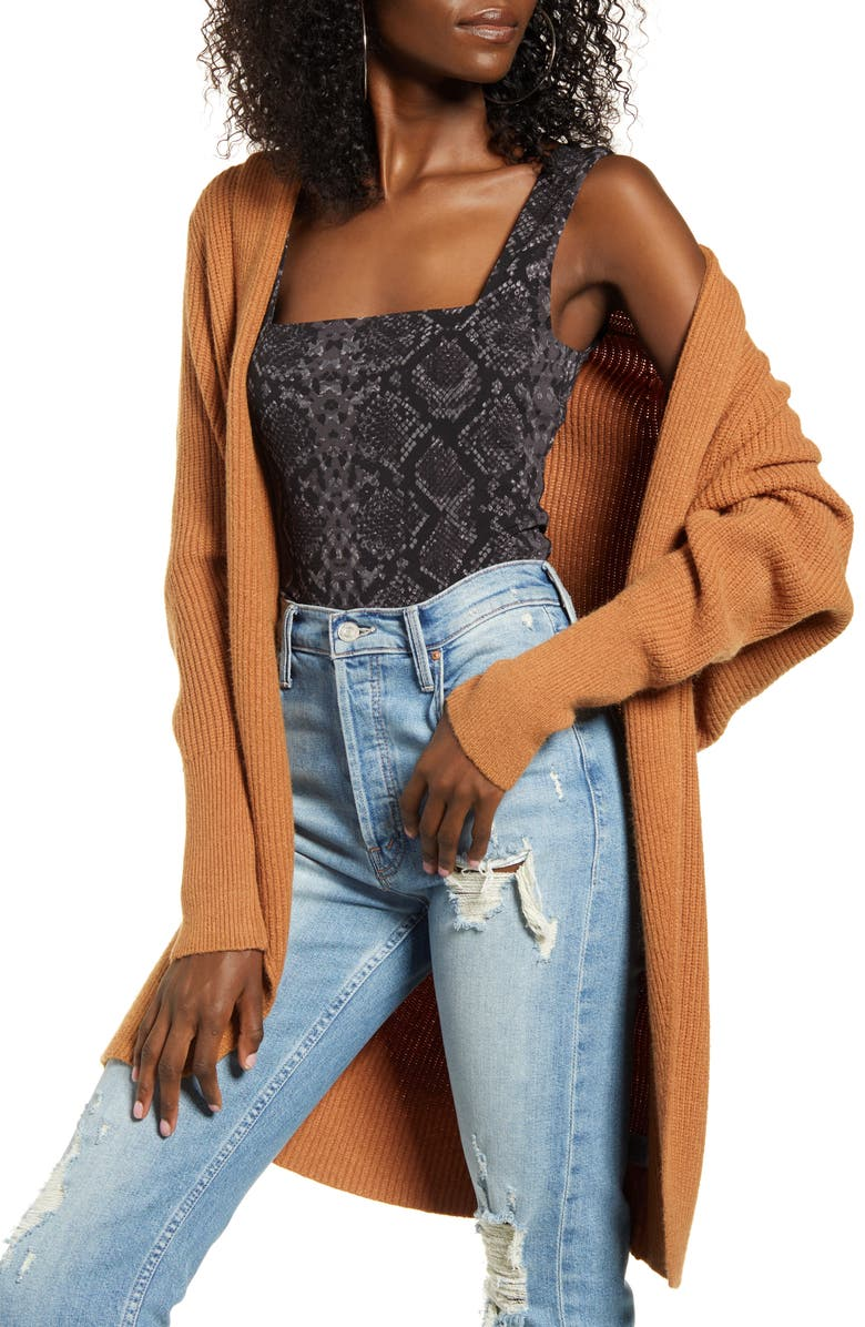 LEITH Dolman Sleeve Cardigan, Main, color, TAN LION