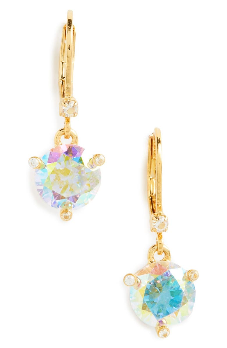KATE SPADE NEW YORK rise and shine lever back earrings, Main, color, ABALONE
