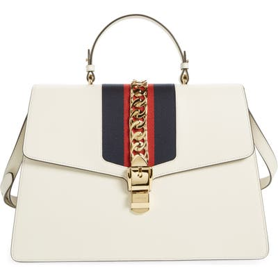 Gucci Maxi Top Handle Leather Shoulder Bag -