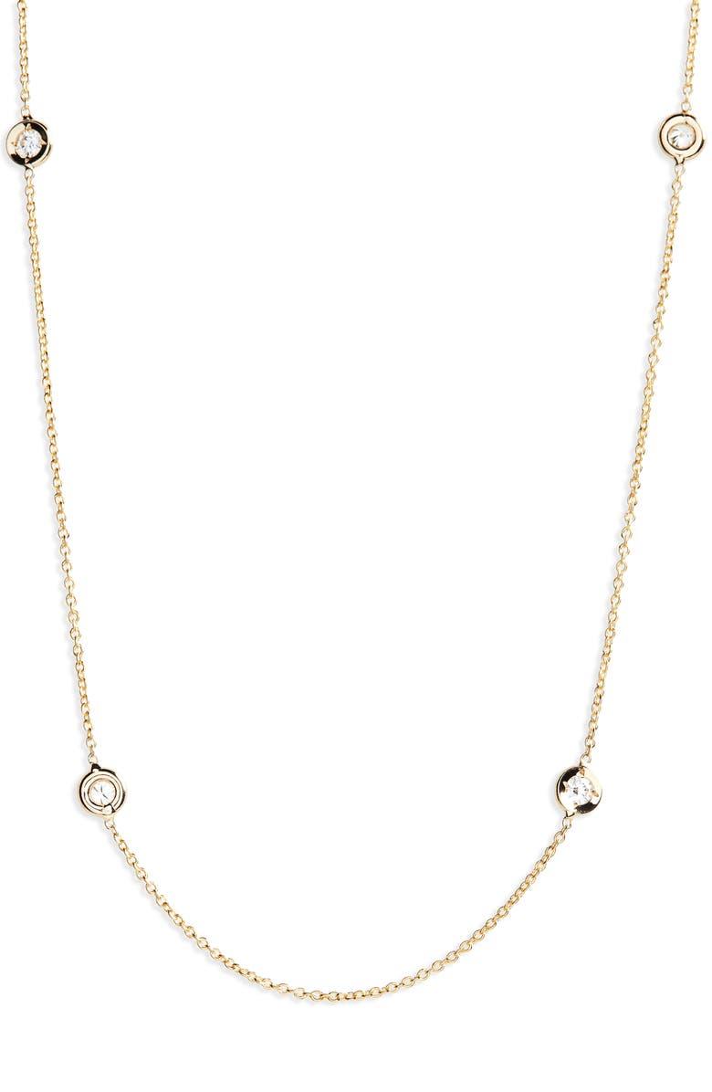 ROBERTO COIN Diamond Seven Station Necklace, Main, color, 710