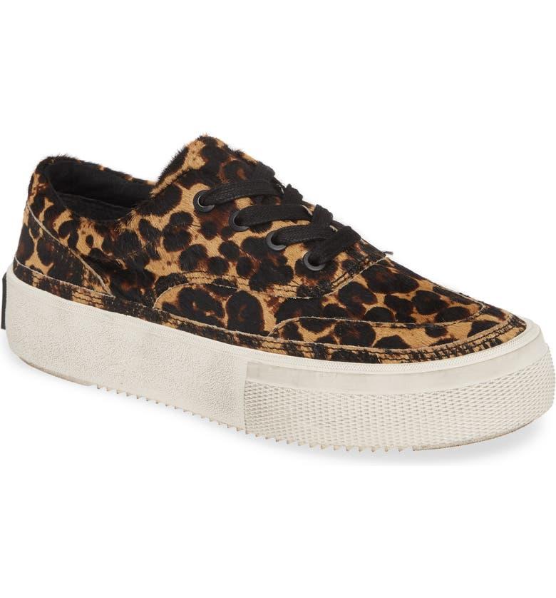 ALLSAINTS Mercia Lace-Up Platform Sneaker, Main, color, LEOPARD CALF HAIR