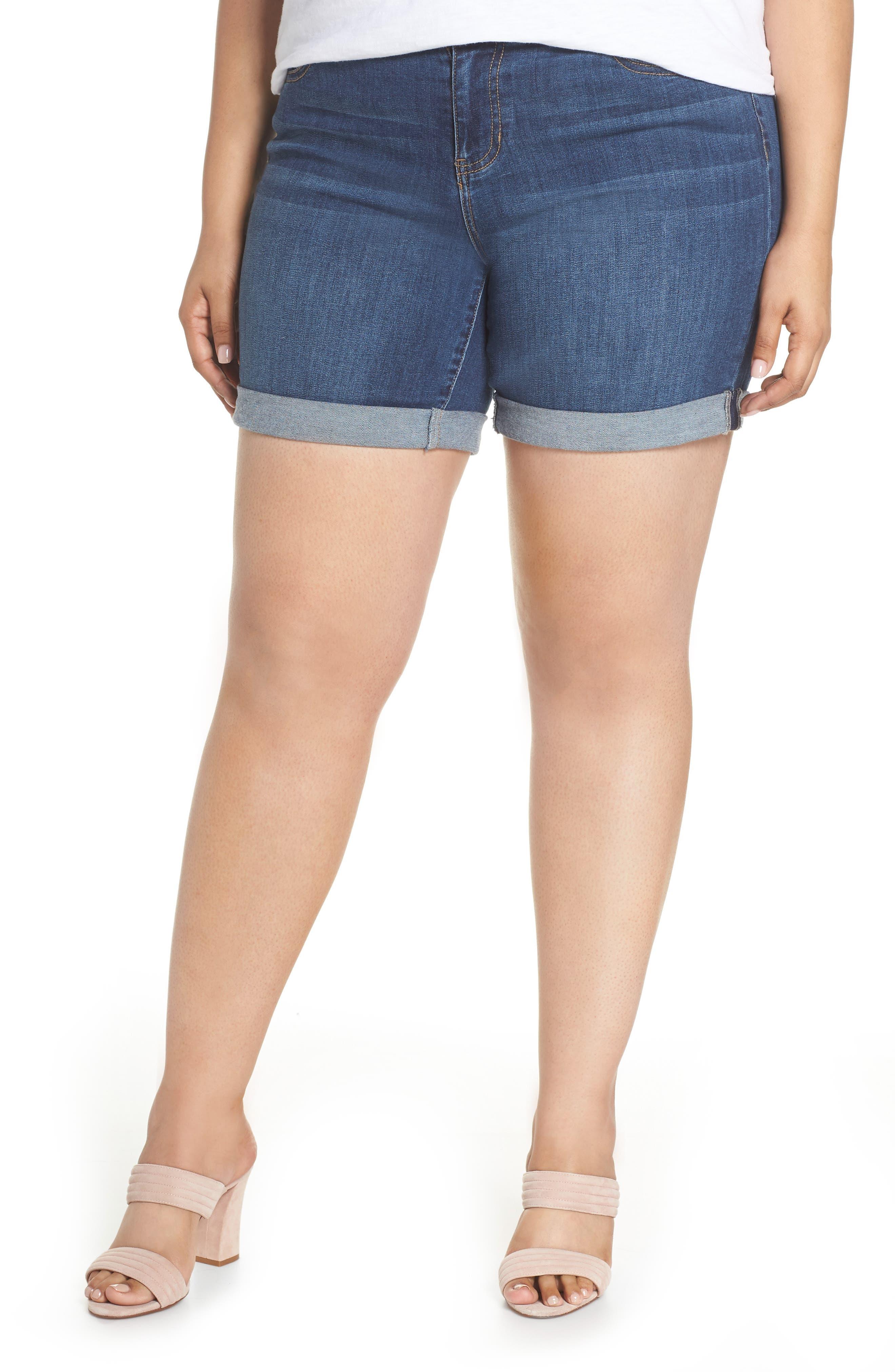 Plus Women's Liverpool Corine Denim Shorts