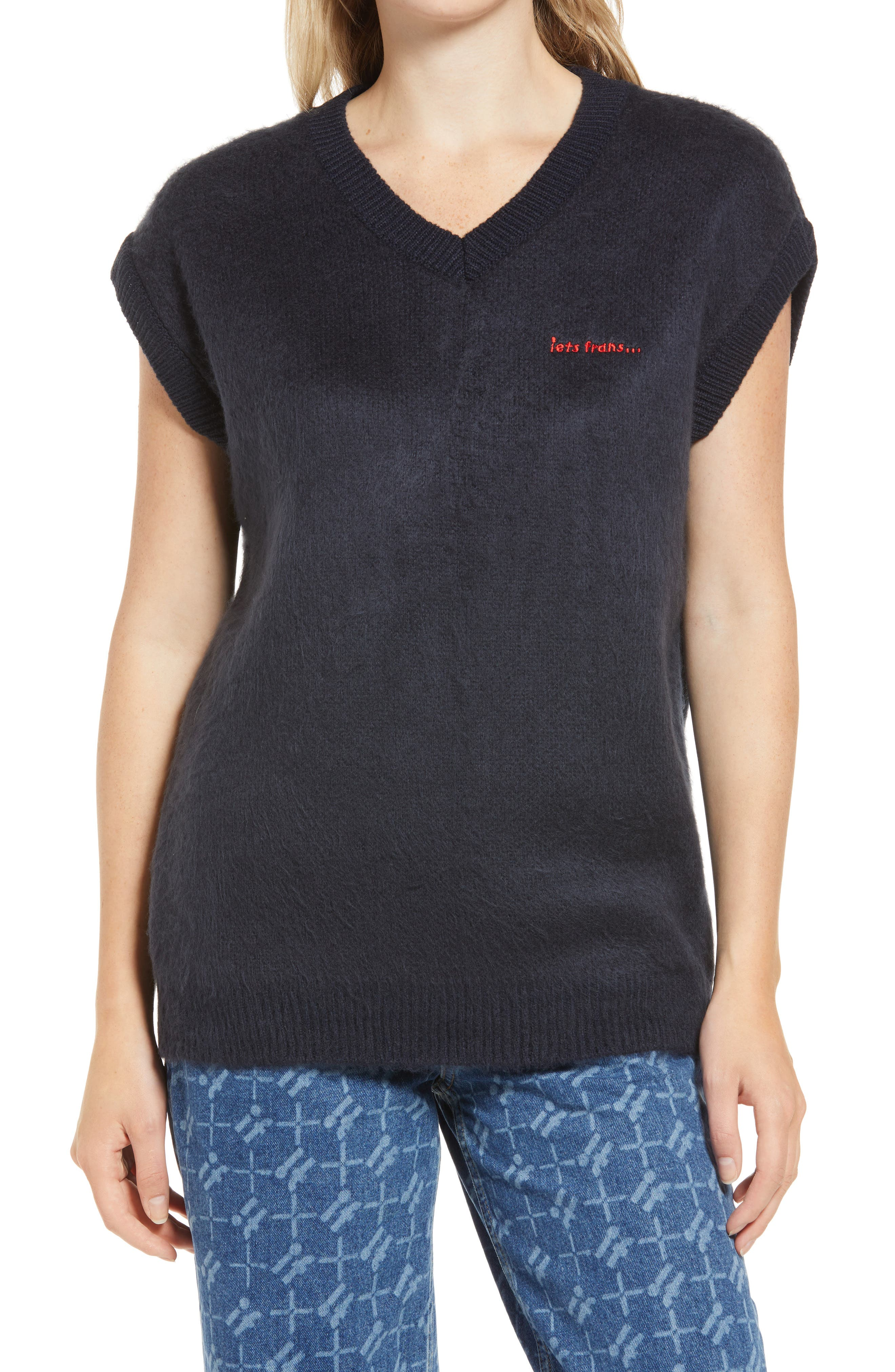 Women's Fluffy Knit Vest