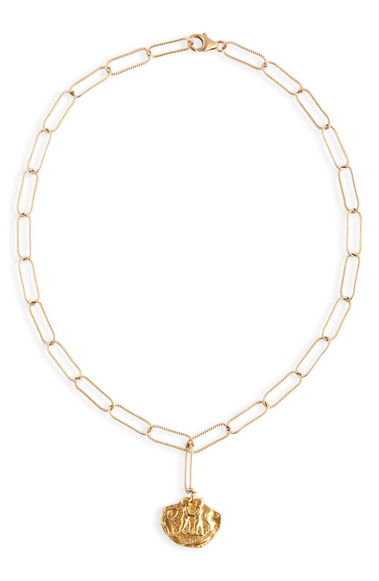 ALIGHIERI Paolo & Francesca Necklace, Main, color, GOLD PLATED