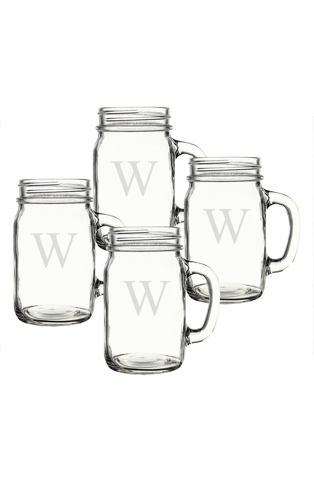 ,                             Monogram Glass Drinking Jars,                             Alternate thumbnail 73, color,                             982