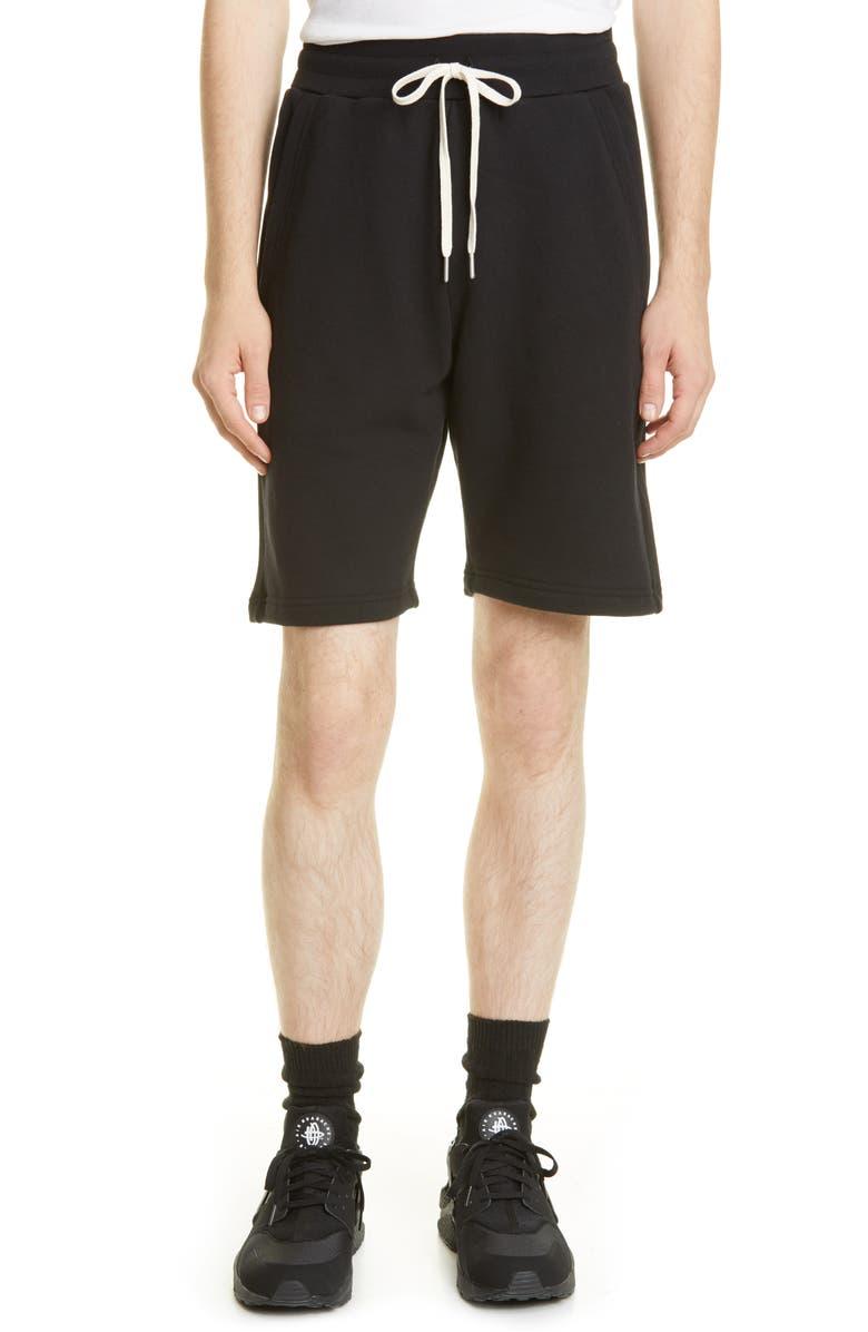 JOHN ELLIOTT Crimson Drawstring Shorts, Main, color, BLACK